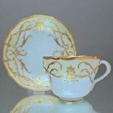 P. Donath, Schlesien: Kaffeetasse mit Reliefgold, Prunktasse, Barock, cup, Gelb