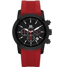 Danish Design IQ24Q1020 Black Dial Stainless Steel Rubber Quartz Men's Watch
