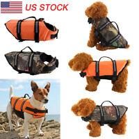 Pet Dog Saver Life Jacket Swimming Float Vest Reflective Adjustable Buoyancy Aid