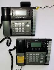 Lot of 2 RCA TC25424RE1 – 4-Line Small Business Desk Phones