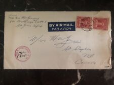 1945 Newfoundland Airmail Military Censored Cover To Canada