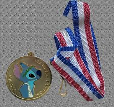 DISNEY Shopping Stitch Olympic Lanyard Pin Set - LE 250