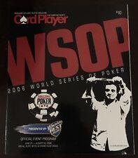 WSOP 🃏 World Series Of Poker 2006 Las Vegas Card Player Official Event Program