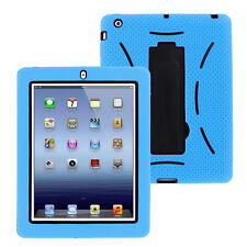 Sky Blue Hybrid Case Rugged Shockproof Full Cover Body Skin For Apple iPad 2 3 4