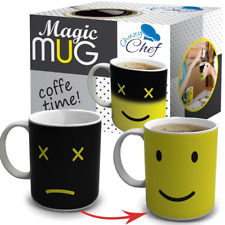 Heat Color Changing Mug Gift 12 Oz Heat Sensitive Color and Smiley Face Morning