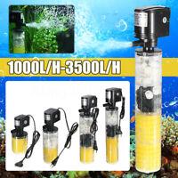 Aquarium vague puissance interne filtre Fish Tank Filtration eau pompe Bar à oxy