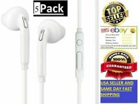 5Pack For Samsung Headphone Headset Earphone EarBud For Galaxy S7 8 9 10 no logo