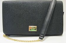 Tignanello NWT $125 Clutch Crossbody Organizer  Black Pebbled Leather Wallet