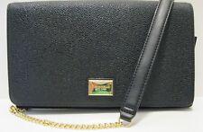 Tignanello NWT $125 Clutch Crossbody Organizer  Black Pebbled Leather Wallet