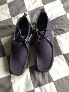 Navy Moccasin Wallaby Tie Shoes