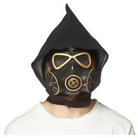 Adult Cyber Steampunk Mad Max Wasteland Black Gas Mask Halloween Costume Mask
