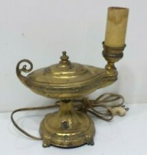 Vintage AINSLEY Lamp Cast Metal Electric Genie Oil Style Aladdin Light Old