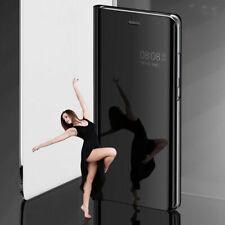 Lujo Cuero Inteligente MIRROR View Abatible De pie Estuche Cubierta para Teléfonos Samsung Galaxy