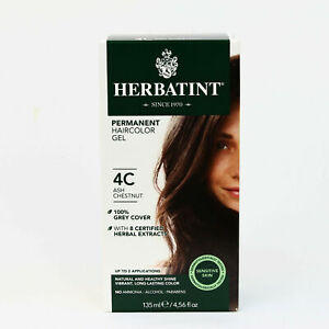 Herbatint Permanent Herbal Hair Color Gel, 4C , Clearance for Dented Box