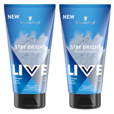 2x  Schwarzkopf Live Stay Bright Colour Booster Shampoo STEEL SILVER 150ml