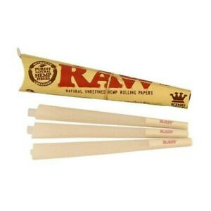 RAW King Size Cones 110mm Pre Rolled Tobacco Paper Rolling Cone 3 Per Pack
