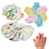 HN- Newborn Cotton Baby Mittens 4 pairs boy girl unisex anti scratch Mitts Placi