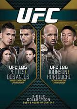 UFC 185: Pettis vs. Dos Anjos/UFC 186: Johnson vs. Horiguchi (DVD, 2015, 3-Disc…