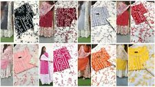 Designer Stitched Salwar Kameez New Party Wear Suit Bandhej Print Pakistani SK