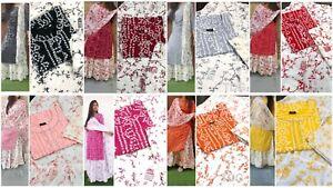 Designer Stitched Salwar Kameez New Party Wear Suit Bandhej Print Pakistani SK