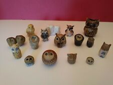 16 Assorted Small Owl Ornaments