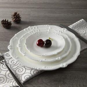 Ceramic Dinner Plate Set Porcelain Tableware For Restaurant Home Café 3 Dishes