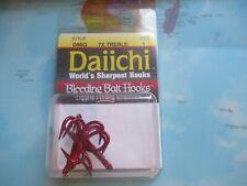 Daiichi D98Q 7X Treble Red Hooks Size 1 Bleeding Bait Hooks 4 Pack Brand New!!!