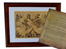 Mapamundi H.Jaillot 1694 - Impresión Artística 24 x 30 cm incl. passeparto &