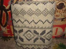 RALPH LAUREN AUCKLAND FAIRISLE SNAKE BLACK GRAY TAUPE QUEEN FLAT SHEET 84 X 100