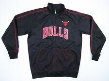 Chicago Bulls Majestic Black Red Sewn Basketball Track Jacket Mens XLT Tall NWOT