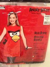 Angry Birds Red Bird Costume Dress Head Piece Chidren Sz Med (7-8) Nwt