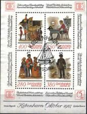 Used S/S Philatelic Exposition Hafnia 1987 Post from Denmark 1986   avdpz