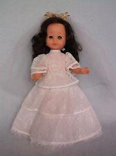 "Pretty Vintage 12"" Bride Doll Zanini & Zambelli Italy, Wedding Dress, Furga Type"