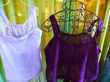 xl  haut dentelle violine pour sous -corsage ou robe +un offert