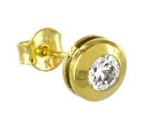 ECHT GOLD *** Gold Zirkonia Herren Single- Ohrstecker Ohrring 7 mm