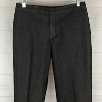 Ann Taylor Womens Size 6 Stretch Black Straight Creased Leg Trouser Style Jeans