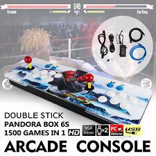 Original Pandora Box 6S 1500 Games Double Stick Retro Arcade Console Support