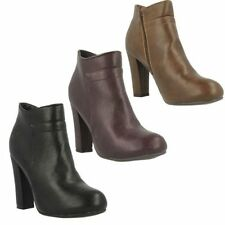 Zip High (3 in. and Up) Slim Heel Synthetic Boots for Women