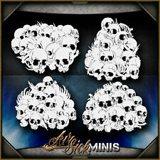 Mini Skull Background Set 2 -  Airbrush Stencil Template Airsick