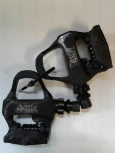 "iSSi 9/16"" Pedals Cleats Road Carbon Bicycle 50mm Spindle Black - Bicycle Look"