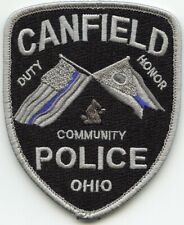 CANFIELD OHIO OH See The Back of This Patch SUBDUED POLICE PATCH