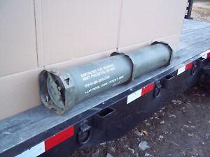 MILITARY SURPLUS 120MM AMMO TUBE CAN BURY GUNS AMO RIFLE MONEY VALUABLES US ARMY