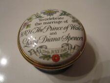 """Halcyon Days Enamel Box """"1981 Celebrate Marriage Princess Diane"""" Trinket Box"""
