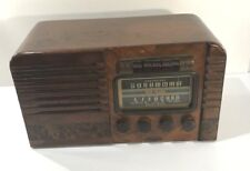 VINTAGE  RCA VICTOR TUBE SHORTWAVE RADIO WOOD RADIO TABLETOP RADIO NONWORKING
