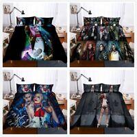 3D Suicide Squad Bedding Set Harley Quinn Joker Duvet/Comforter Cover Pillowcase