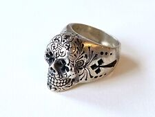 King Baby Studio Large Skill Head Sterling Silber Ring ***TOP***