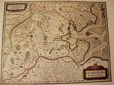 Historische Landkarte Grafschaft Oldenburg 1658