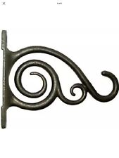 Panacea Hanging Plant Bracket, Brushed Bronze, 6-In. New With Tags