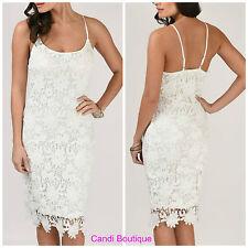 Lace Round Neck Regular Size Sleeveless Dresses for Women