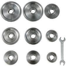 9pcsset Cj0618 Lathe Mini Lathe Gears T30 T60 Metal Exchange Gear Lathe Machine